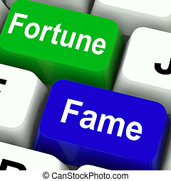 Fortune Fame Keys Show Wealth Or Publicity - Fortune Fame...