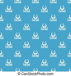 Fortune pattern vector seamless blue