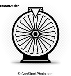 fortune wheel black silhouette
