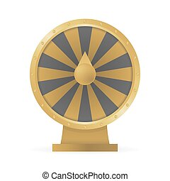 Fortune wheel concept to win money and prizes vector illustration