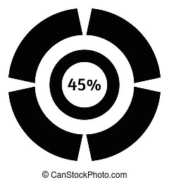 Forty five percent download icon, simple style