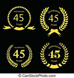 forty five years anniversary laurel fifty years anniversary laurel gold wreath set