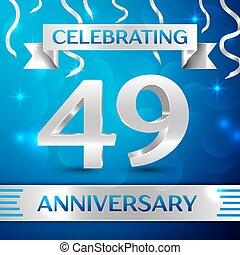 Forty nine Years Anniversary Celebration Design. Confetti...