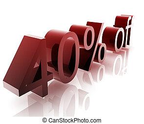 Forty percent discount - Forty Percent discount, retail...