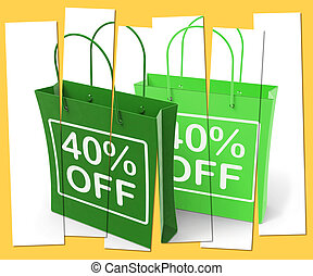 Forty Percent Off On Bags Shows 40 Bargains
