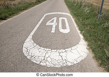 Forty Speed Sign