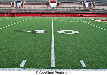 Forty Yardline - A sideline view of the forty yardline on a...
