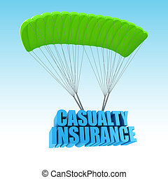 forulykket, forsikring, 3, begreb, illustration
