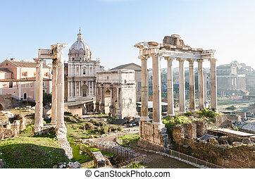 forum., イタリア, rome., 帝国