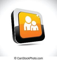 Forum 3d square button.