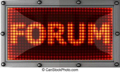 forum announcement on the LED - forum announcement on the...