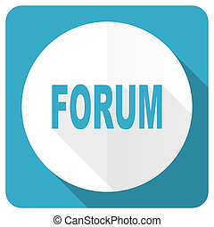 forum blue flat icon