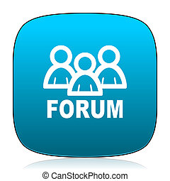 forum blue icon