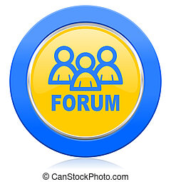 forum blue yellow icon