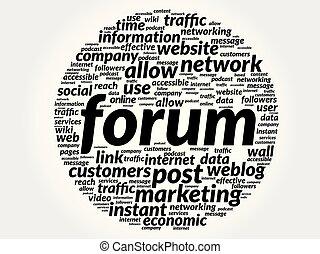 Forum business concept