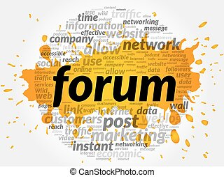 Forum business concept
