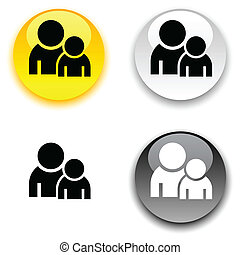 Forum button. - Forum glossy round vector buttons. .