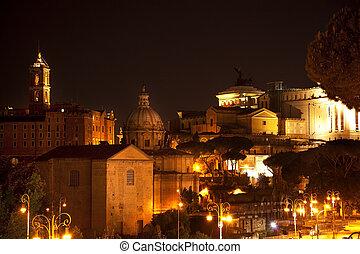 Forum Capitoline Hill Night Rome Italy - Forum Capitoline ...