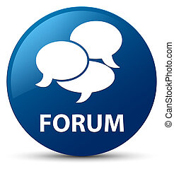 Forum (comments icon) blue round button