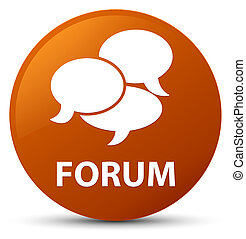 Forum (comments icon) brown round button