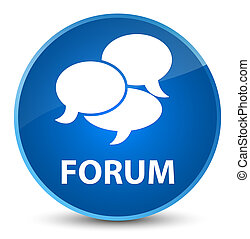 Forum (comments icon) elegant blue round button