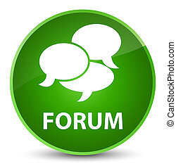 Forum (comments icon) elegant green round button