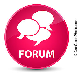 Forum (comments icon) elegant pink round button
