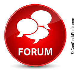 Forum (comments icon) elegant red round button