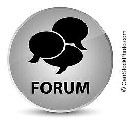 Forum (comments icon) elegant white round button