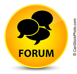 Forum (comments icon) elegant yellow round button