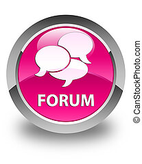 Forum (comments icon) glossy pink round button