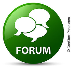 Forum (comments icon) green round button