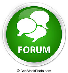 Forum (comments icon) premium green round button