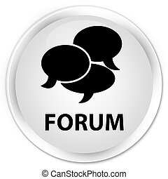 Forum (comments icon) premium white round button