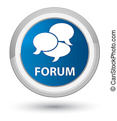 Forum (comments icon) prime blue round button