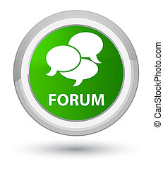 Forum (comments icon) prime green round button