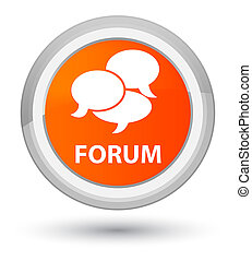 Forum (comments icon) prime orange round button