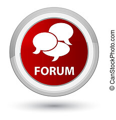 Forum (comments icon) prime red round button