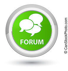 Forum (comments icon) prime soft green round button