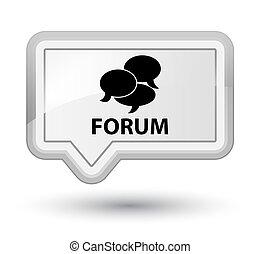 Forum (comments icon) prime white banner button
