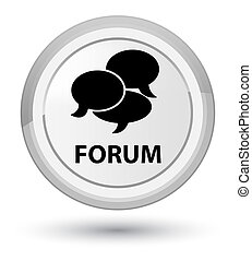 Forum (comments icon) prime white round button