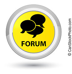 Forum (comments icon) prime yellow round button