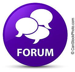 Forum (comments icon) purple round button