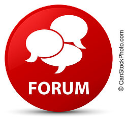 Forum (comments icon) red round button