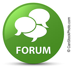 Forum (comments icon) soft green round button