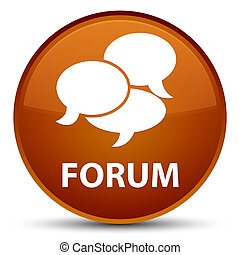 Forum (comments icon) special brown round button