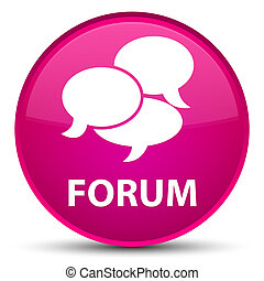 Forum (comments icon) special pink round button