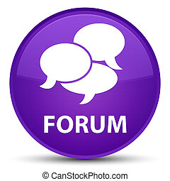 Forum (comments icon) special purple round button