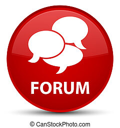 Forum (comments icon) special red round button