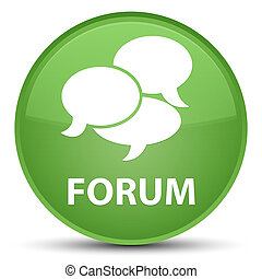Forum (comments icon) special soft green round button